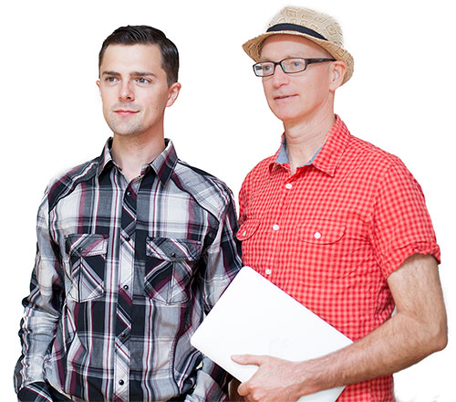 Cory, Founder and Jordan, Lead Developer